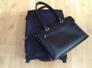 Trolley und Handtasche
